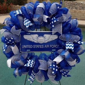 Deco Mesh Other - Air Force Deco Mesh Wreath Military Decor New
